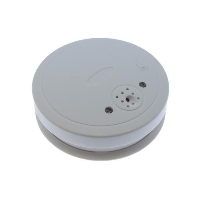 Détecteur de fumée espion 720p Wifi, avec des avertissements vers le téléphone portable, vision nocturne, détection de mouvement et