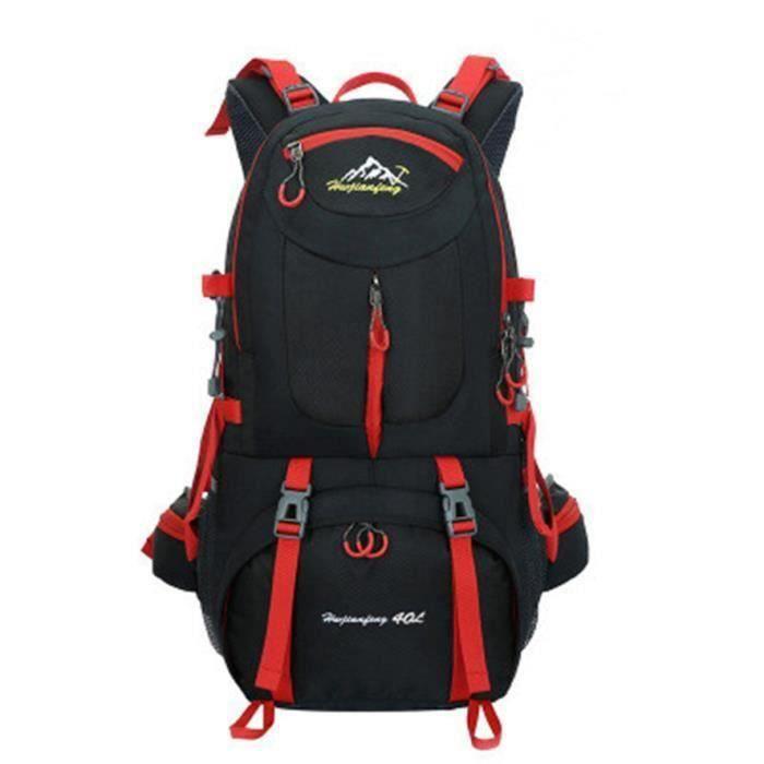 40L sac à dos de voyage,Outdoor randonnée Camping sac à dos en étanche(50*30*18CM)--noir CHR9956