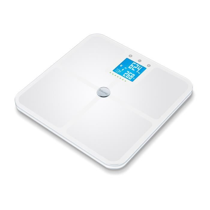 BEURER BF 950 - Pèse-personne impédancemètre connecté - 180 kg - Blanc