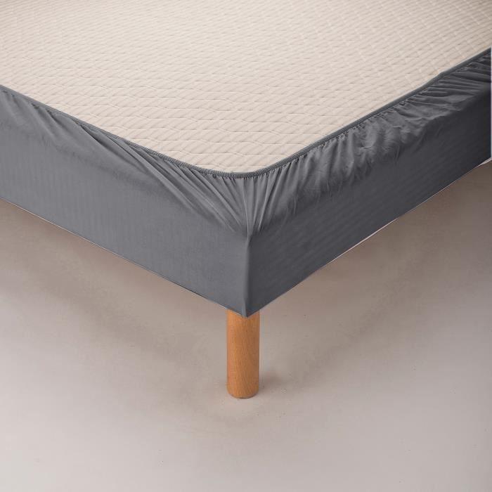 Bande cache-sommier gris anthracite pour lit 90x190 cm