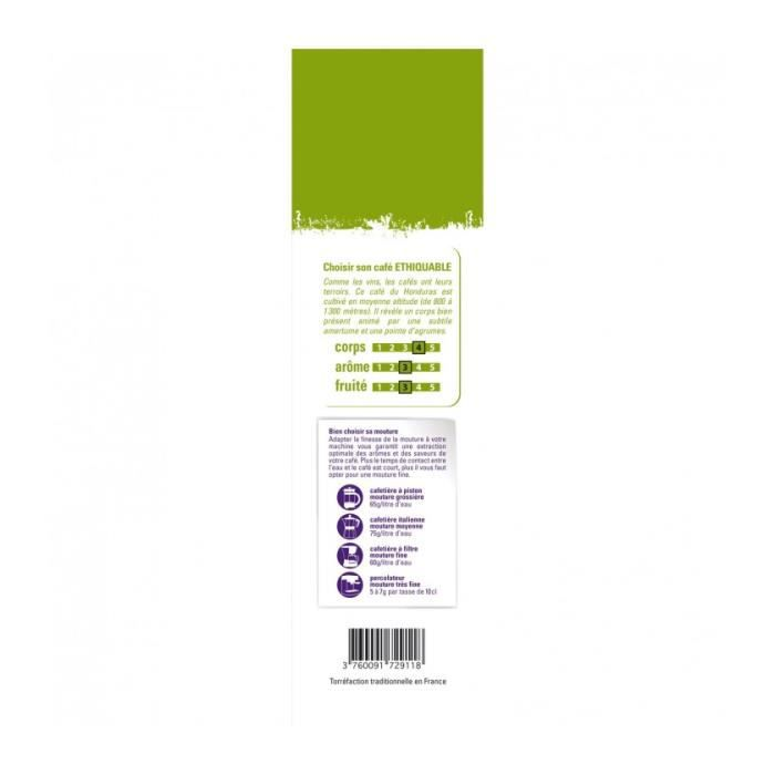ETHIQUABLE - Café Honduras GRAINS bio & équitable 1 kg - 100% Arabica d altitude - intensité 4/5 & 3/5