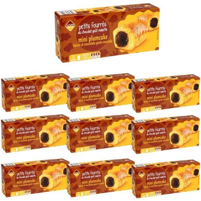 [Lot de 10] Biscuits petits fourrés au cacao noisette x5 sachets - 150g par paquet