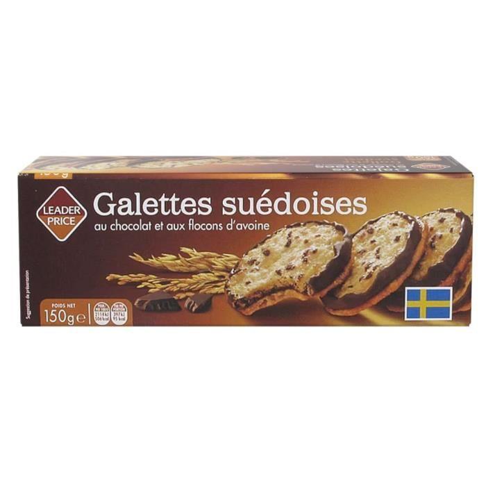 [Lot de 7] Biscuits galettes suédoises au chocolat et aux flocons d'avoine - 150g par paquet