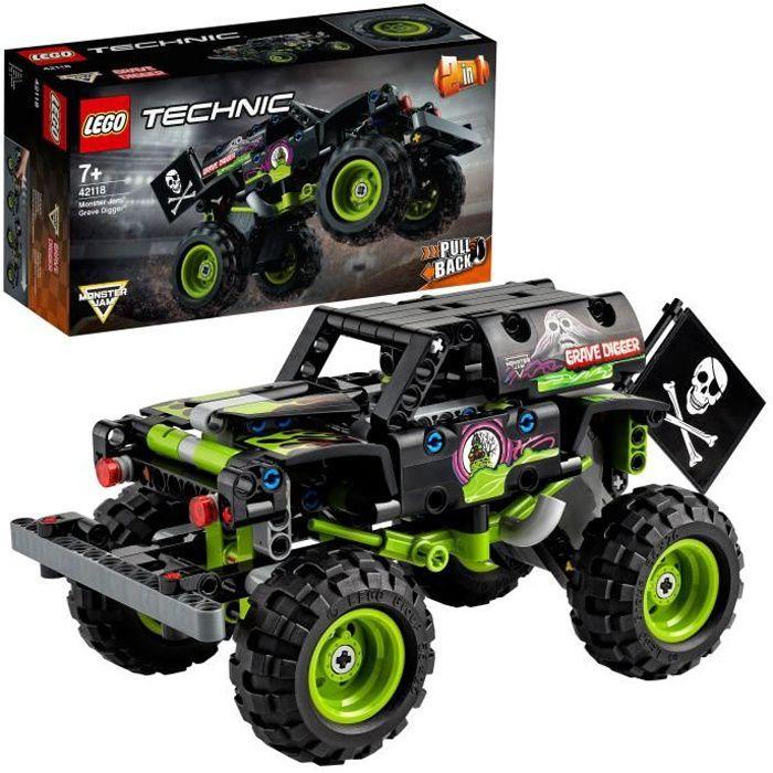 LEGO® Technic 42118 Monster Jam Grave Digger Un camion-jouet et un buggy tout-terrain, Jeu de transformation 2-en-1