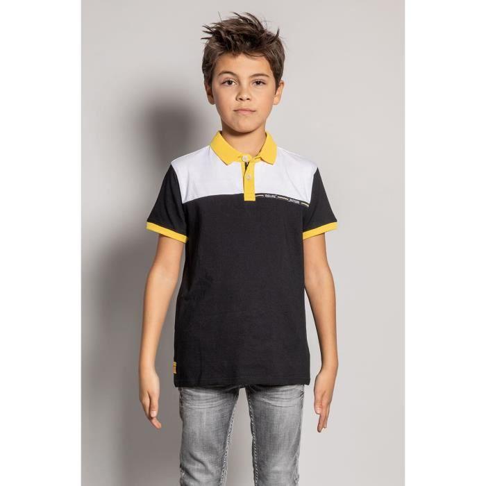 DEELUXE Polo tricolore à manches courtes ACID Black