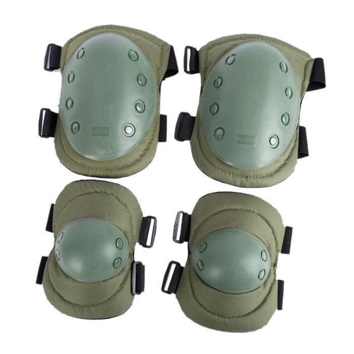 PROTEGE-CHEVILLES - CHEVILLERE,Ensemble de protection de Combat tactique adulte équipement sport militaire genou - Type QJ0317JG