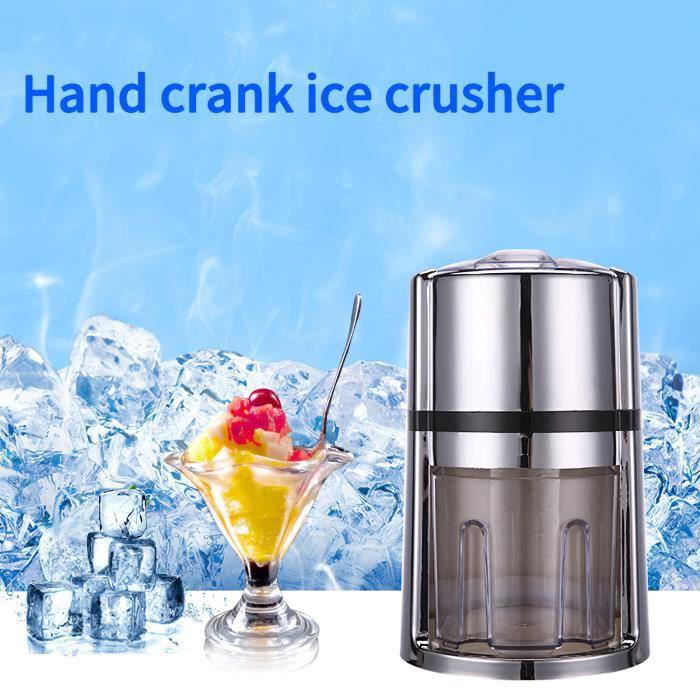 Broyeur à glace manuel de ménage, machine à glace pilée, machine à smoothie