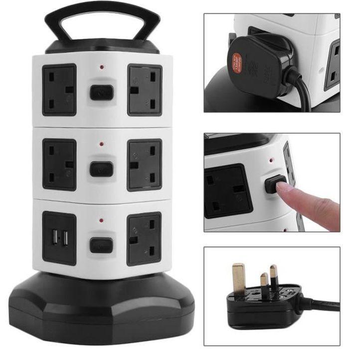 prise Vertical multiprise Vertical avec USB ports Multifonction UK plug