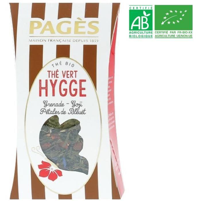 PAGES Thé Vert Hygge - Grenade, Goji, Pétales de Bleuets - Vrac - Bio