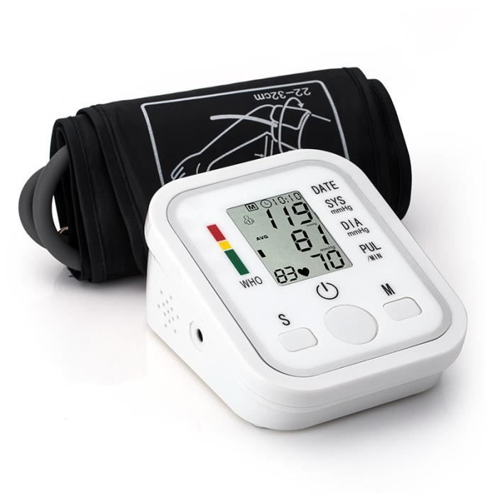 Swonuk® Tensiomètre de bras électronique avec écran LCD et Diffusion vocale,outil de mesure tension familial