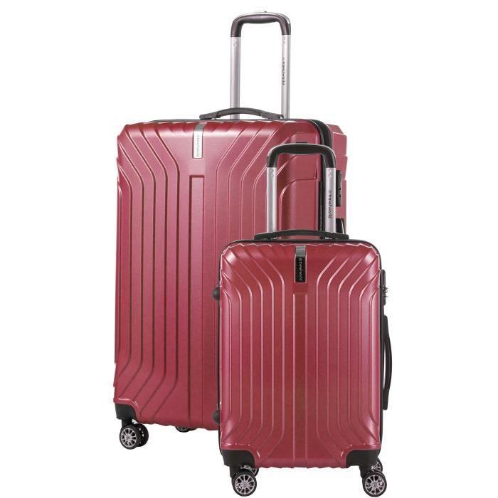 TRAVEL WORLD Ensemble de 2 valises 55/75cm Rouge foncé