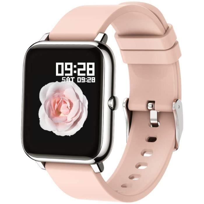 Montre Connectée Intelligente Smartwatch Moniteur de Sommeil Pression Artérielle Cadiofréquencemètre Podomètre Compatible Android i