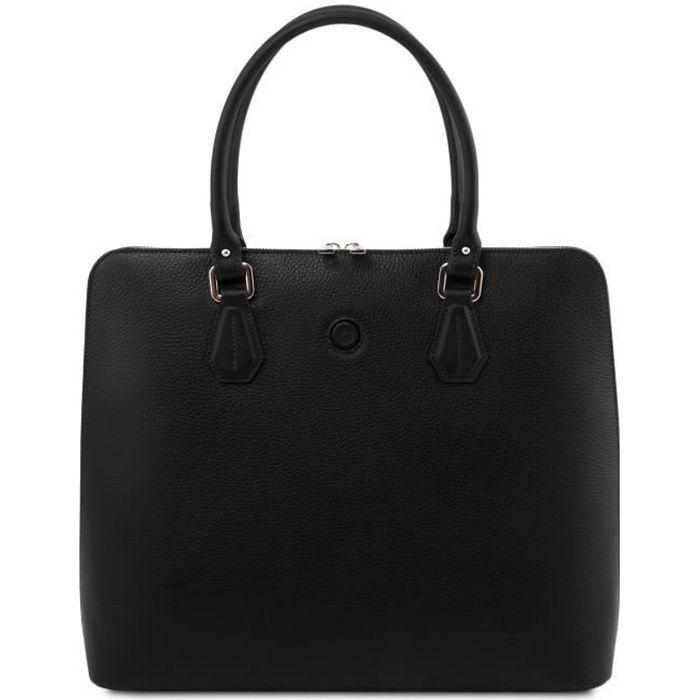 Tuscany Leather - Magnolia - Sac business en cuir pour femme - Noir (TL141809)