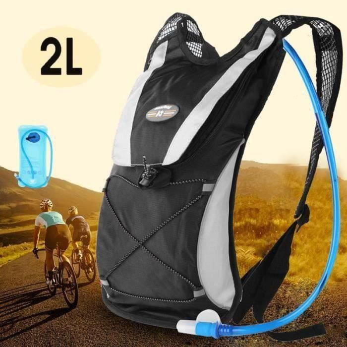 HK25948-TEMPSA Sac à Dos d'Hydratation Vélo Veste Ultraléger Pour Courses Marathon Trails Cyclisme Randonnée Noir