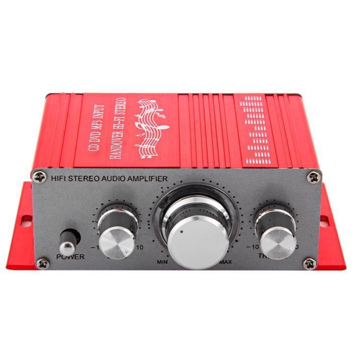 AMPLIFICATEUR HIFI Mini Amplificateur Ampli de Son Hi-Fi Stéréo 12V A