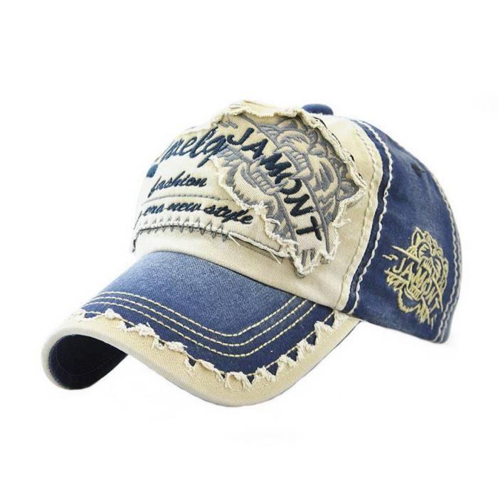 New York city homme coton Dinim Lavé Polo Style Réglable Casquette De Baseball
