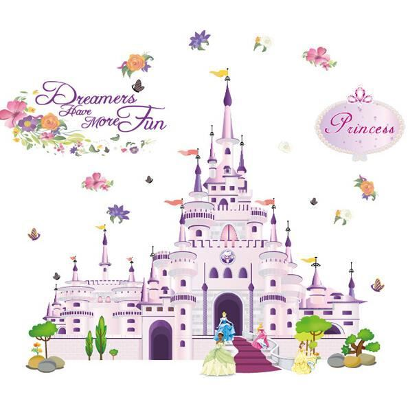 Sticker Murale Princesse R Ve De Fille Dream Castle