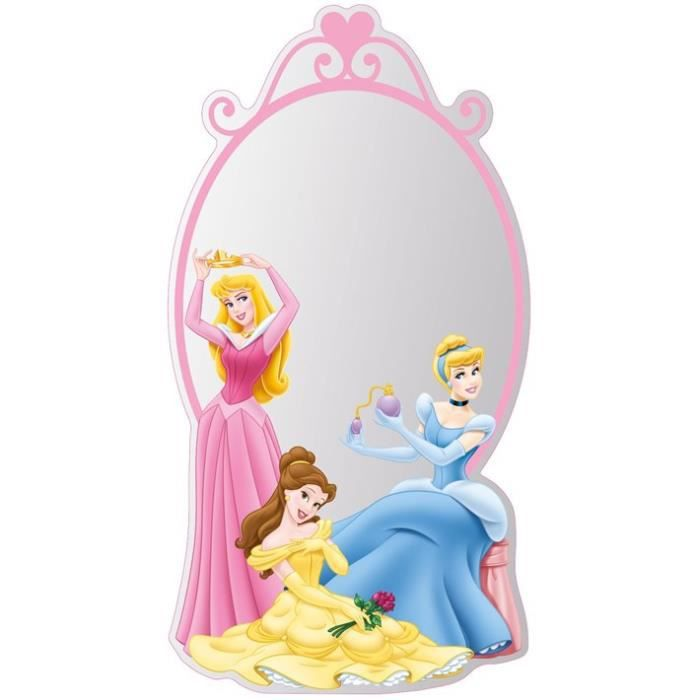 Grand miroir princesse disney achat vente miroir for Miroir princesse