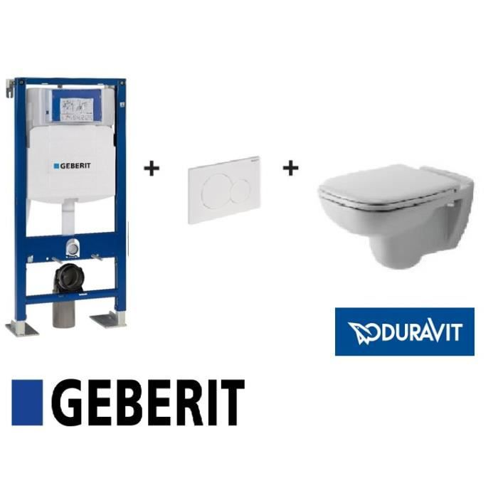 pack wc suspendu complet bati geberit plaque delta cuvette duravit d code abattant siamp. Black Bedroom Furniture Sets. Home Design Ideas