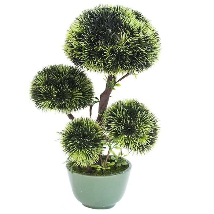 arbre bonsa artificiel 23 cm pot en c ramique achat vente fleur artificielle c ramique. Black Bedroom Furniture Sets. Home Design Ideas