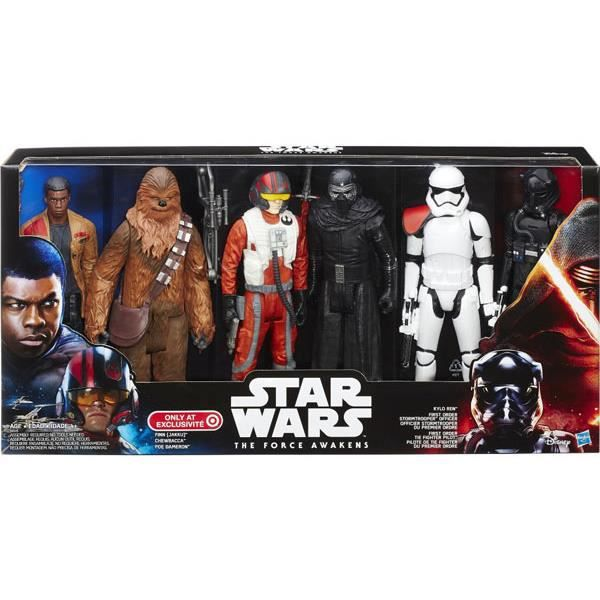 hasbro star wars the force awakens pack de 6 figurines 30 cm achat vente figurine. Black Bedroom Furniture Sets. Home Design Ideas