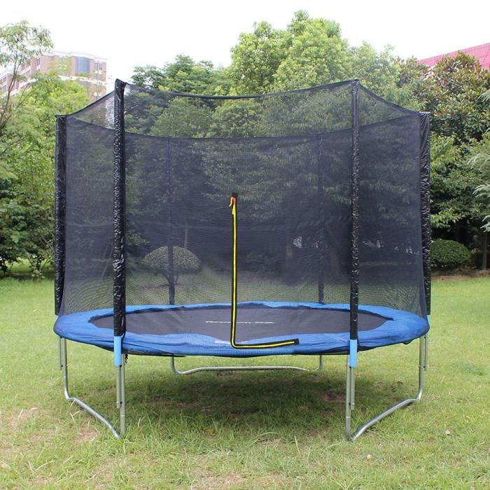 trampoline jardin ext rieur 10ft trampoline avec filet de s curit chelle cavalier gymnastique. Black Bedroom Furniture Sets. Home Design Ideas