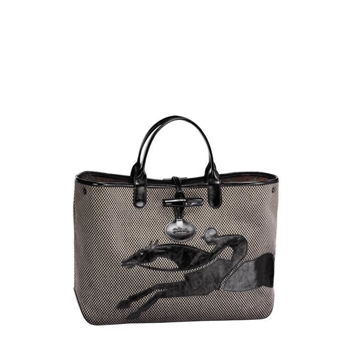 LONGCHAMP - sac femme porté main - MARRON ROSEAU DOUBLE-JEU ...