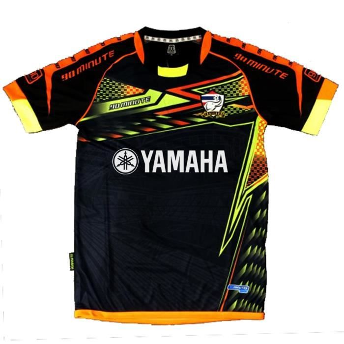 maillot thailande 90 minutes noir orange yamaha noir achat vente t shirt cdiscount. Black Bedroom Furniture Sets. Home Design Ideas