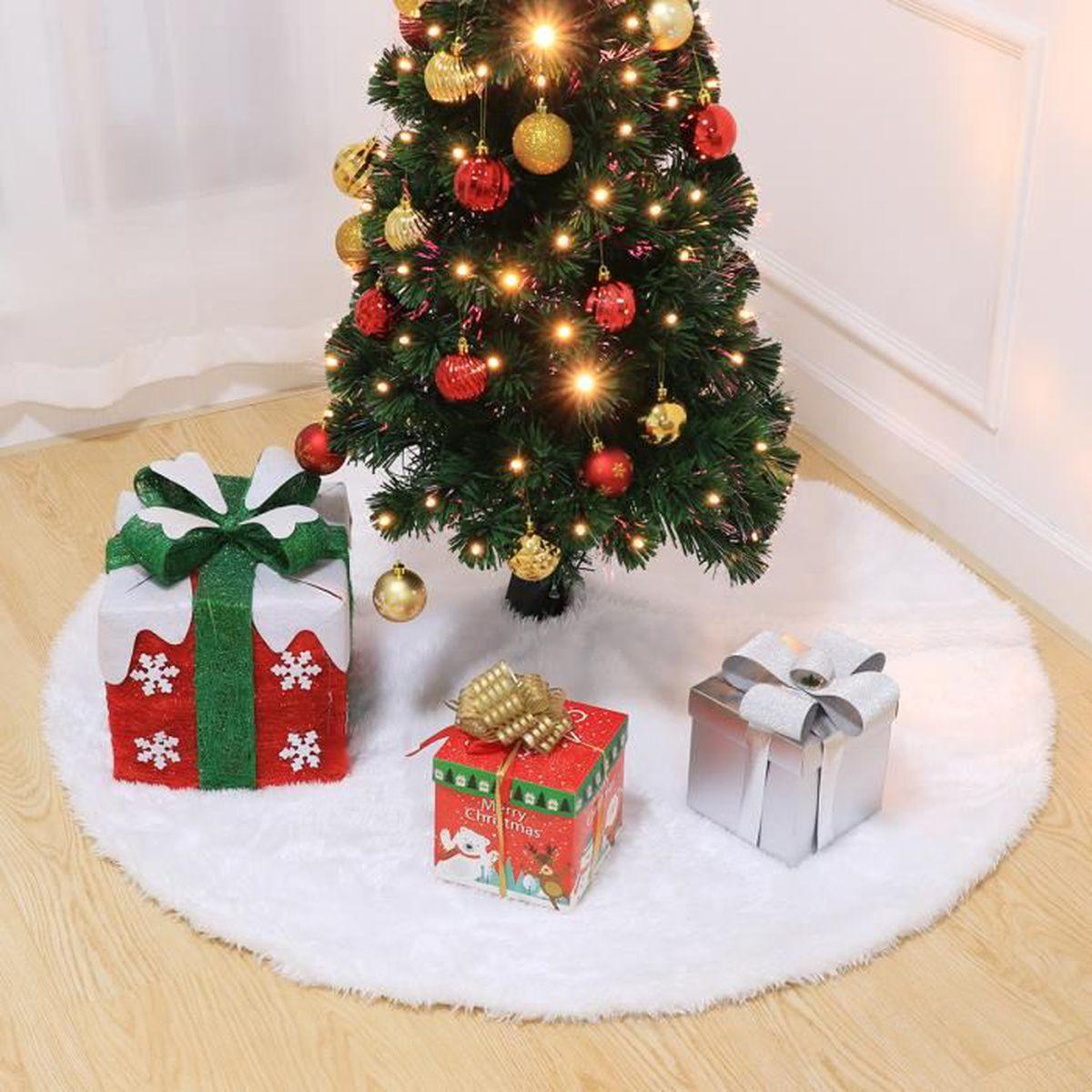 Deco Pied De Sapin tapis de sapin arbre de noël amosfun arbre de noël jupe doux