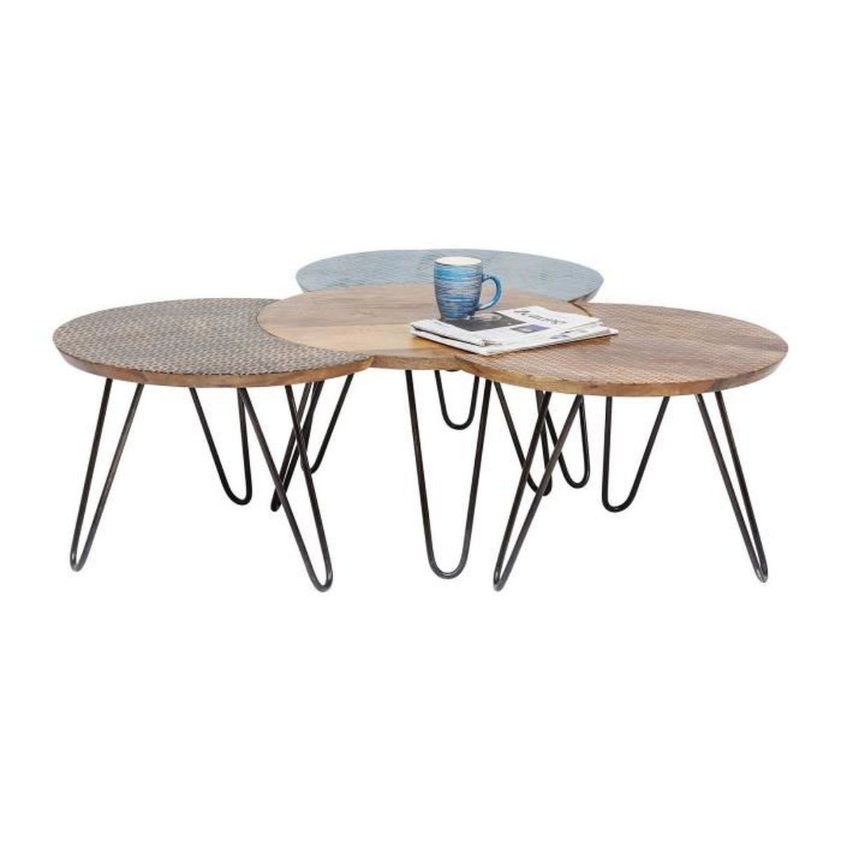 Table basse soleil 4 set kare design achat vente table basse table basse - Table basse soldes design ...