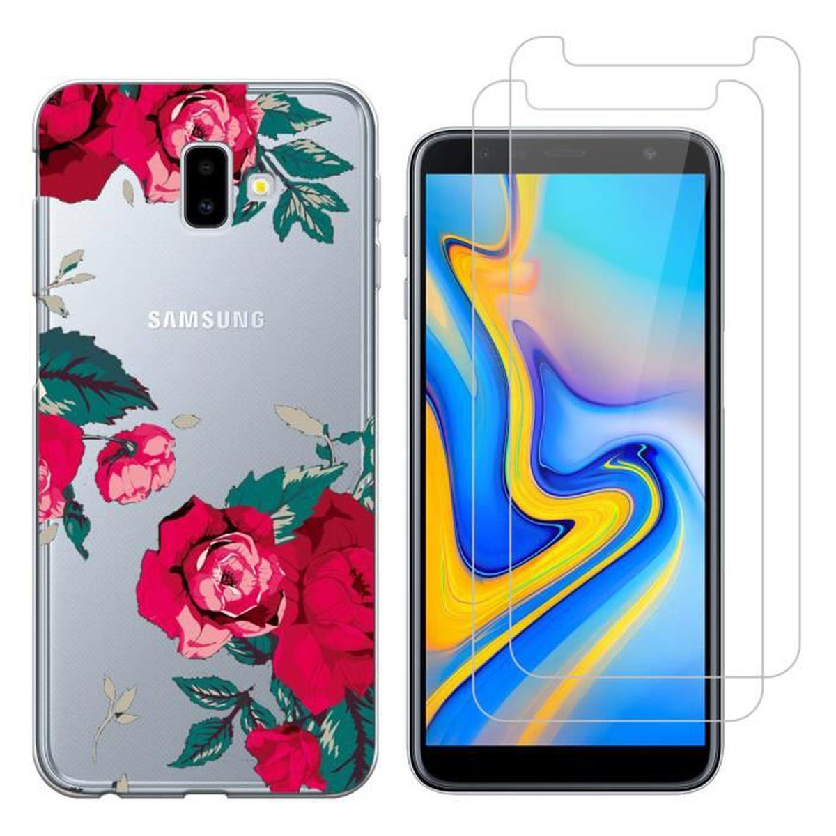 coque samsung galaxy j6 rouge