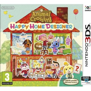 JEU 3DS Animal Crossing Happy Home Designer 3DS + 1 carte