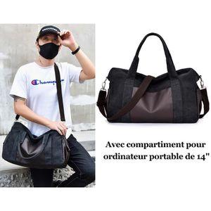 SACOCHE Sac à Main Epaule Bandoulière Noir Compartiment Or