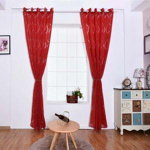 RIDEAU 2 pcs rideaux occultants 100x250 cm Rouge