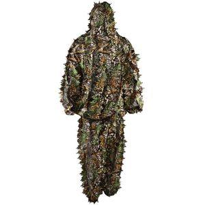VÊTEMENT DE CAMOUFLAGE Suits Camouflage Feuille Ghillie Suit Woodland Cam