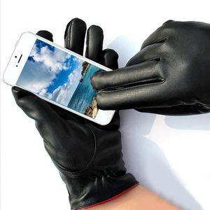 Hiver Homme plein doigt Smartphone écran tactile Cachemire chaud Gants Mitaines NEUF