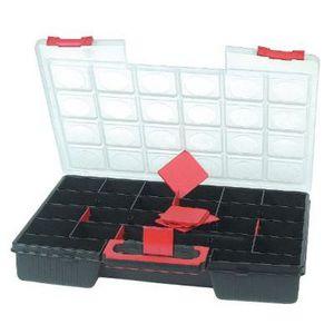 BOITE A COMPARTIMENT Mallette de rangement double 26 casiers modulables