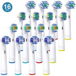BROSSETTE Lot de 16 brossettes de rechange pour têtes de bro