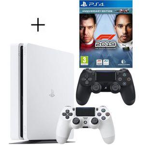 CONSOLE PS4 Pack PS4 : Console PS4 500 Go Blanche + Manette Du