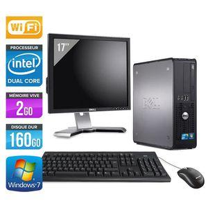 ORDI BUREAU RECONDITIONNÉ PC Dell 780 - Core Duo - 160Go - Wifi + Ecran 17''