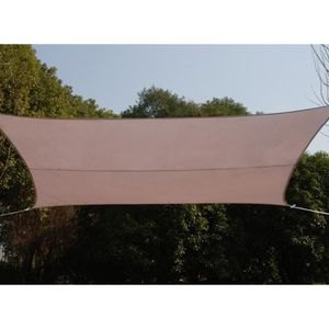 VOILE D'OMBRAGE Voile d'ombrage rectangulaire CURACAO 3 x 4 m Taup