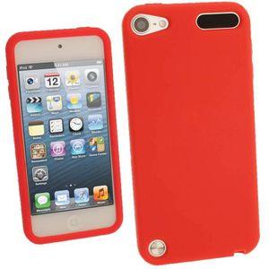 COQUE MP3-MP4 igadgitz Rouge Étui Housse Silicone pour Apple iPo
