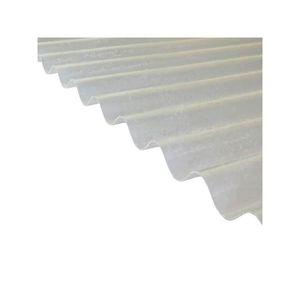 PLAQUE - BARDEAU Plaque polyester ondulée toit translucide - L: 2 m