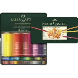 CRAYON DE COULEUR FABER-CASTELL Boîte  métal 120 Crayons Polychromos