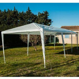 Barnum 3x4m Chapiteau Tente de jardin Pavillon Tente brasserie étanche PVC gris-blanc