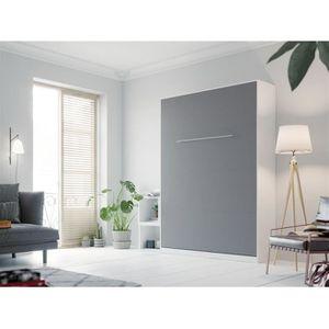 LIT ESCAMOTABLE SMARTBett Standard 140x200 vertical blanc/anthraci