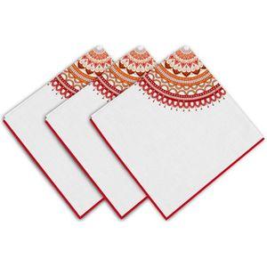 SERVIETTE DE TABLE SOLEIL D'OCRE Lot de 3 servietes Mandala - 100% co