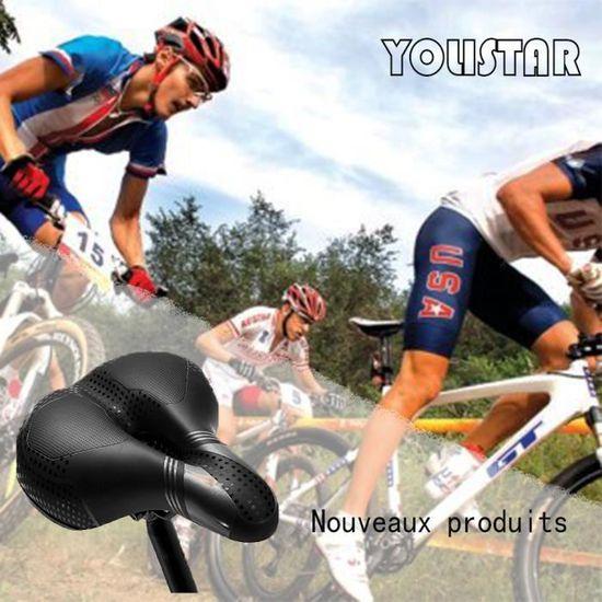 Vélo anti-choc selle route montagne doublée MTB vélo vélo siège confortable