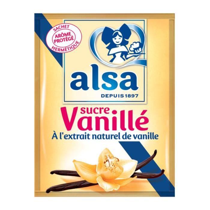 Sucre vanillé extrait naturel 90 g Alsa