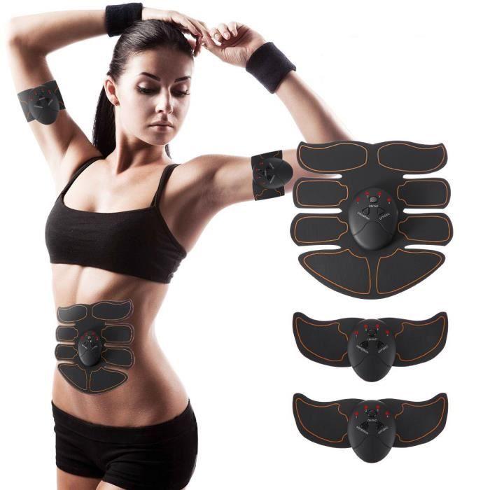 Appareil Abdominal, Smart Ceinture Abdominal Massage Musculaire Bras Multiple Endroit Fitness ou Cuisses Entraînement Tonifier pour
